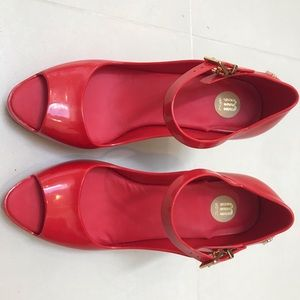 Red Melissa Shoes